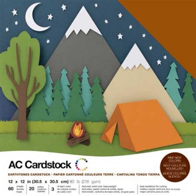 Papier Cardstock pack Nature 60 feuilles 30,5 x 30,5 cm