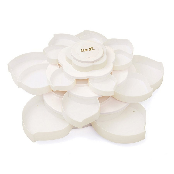 Plateau de rangement Forme fleur Blanc 25,5 x 25,5 x 16 cm
