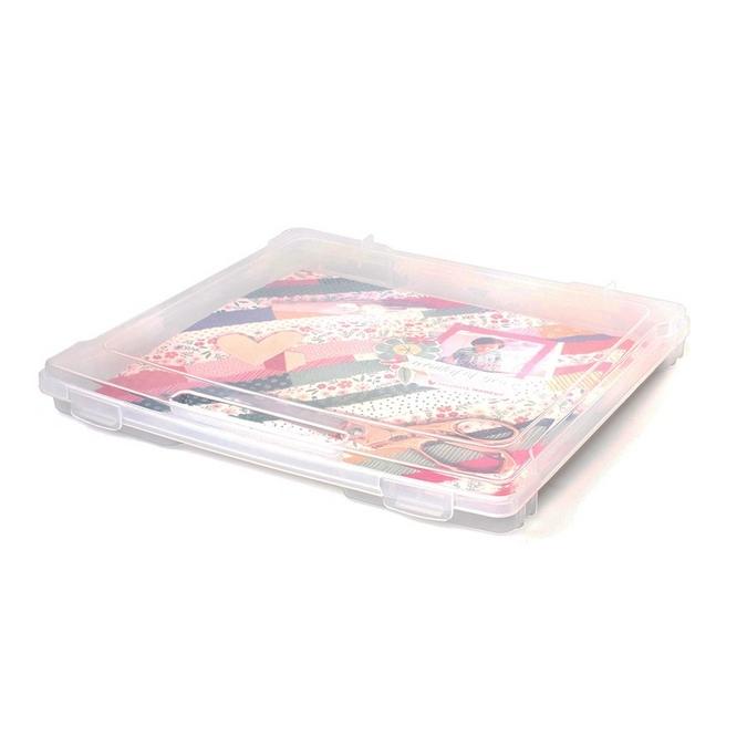 Boîte de rangement transparente 21,5 x 18 cm