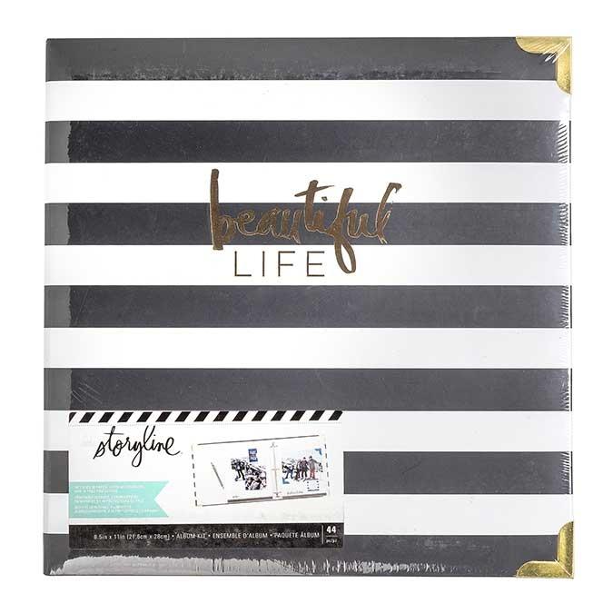 Album Storyline 22 x 28 cm Rayé noir et blanc