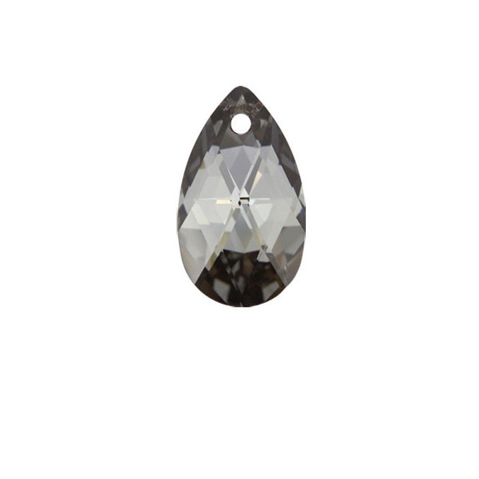 Pendentif poire 6106 - 28 mm - Crystal Silver Night