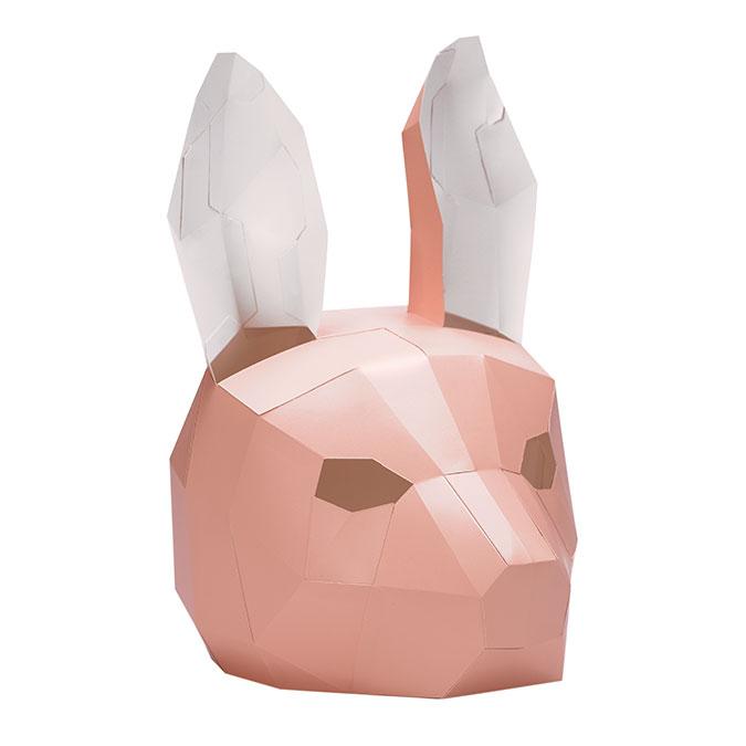Masque en papier 3D Lapin