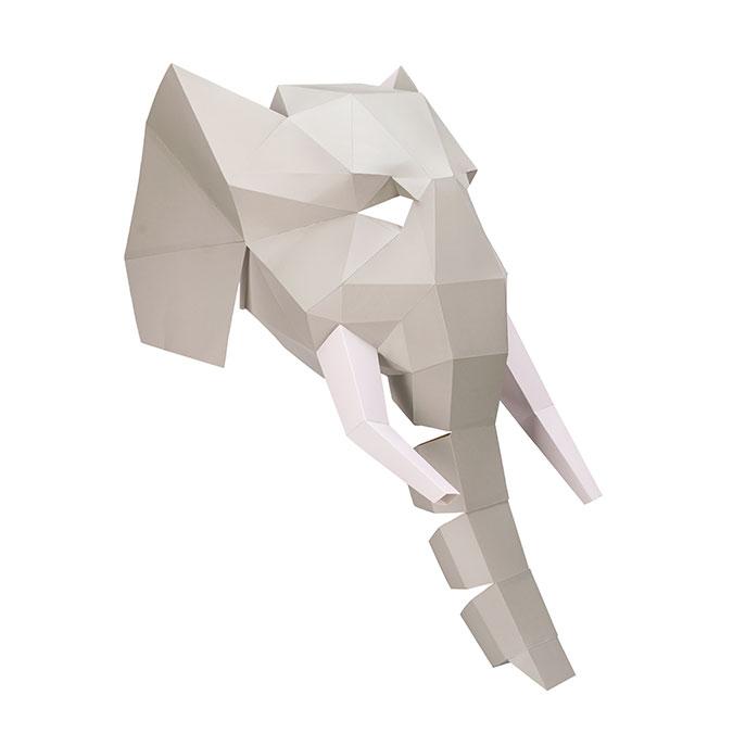 Masque en papier 3D Éléphant
