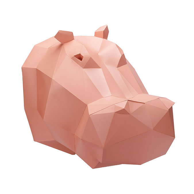 Trophée en papier 3D Hippopotame