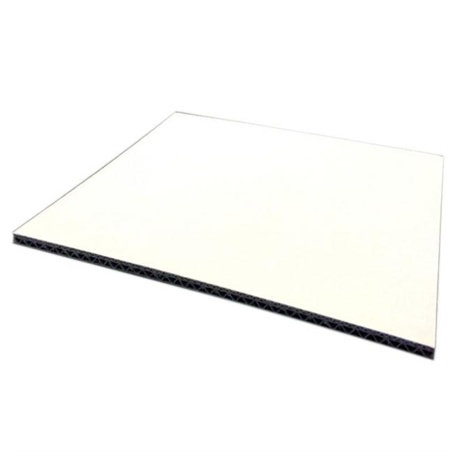 Carton double cannelure Blanc 4,5 mm 50 x 65 cm