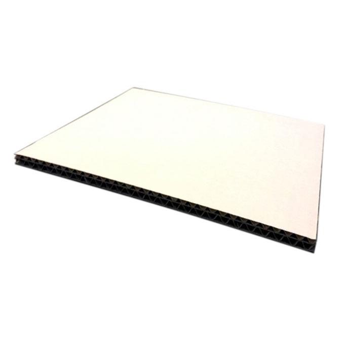Carton double cannelure Blanc 6,5 mm 50 x 65 cm