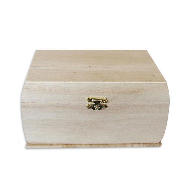 Coffre aux trésors en bois 19 x 13 x 11 cm