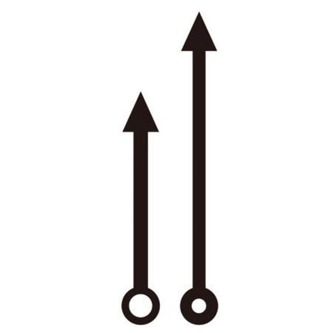 Aiguilles pour horloge Flèches 6 et 8 cm