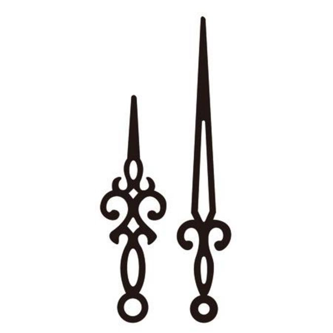 Aiguilles pour horloge Rétro 7.5 et 10 cm
