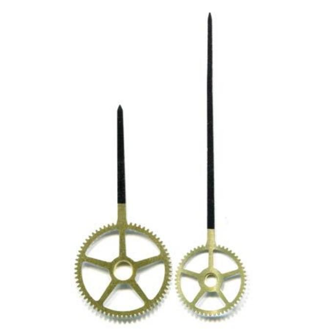 Aiguilles pour horloge Rouages 5.7 et 9.2 cm