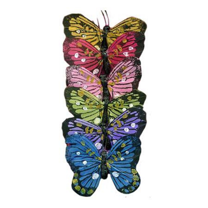 Papillon sur pince 6 pcs
