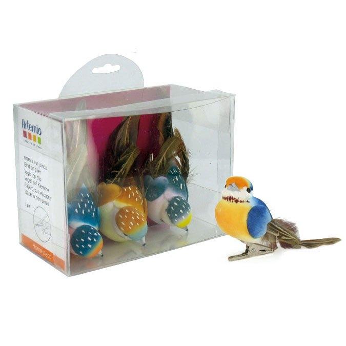 Oiseau sur pince Set n°1 9 cm 3 pcs