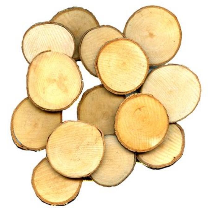 Tranche de bois Ø 3 à 3.5 cm 30 pcs