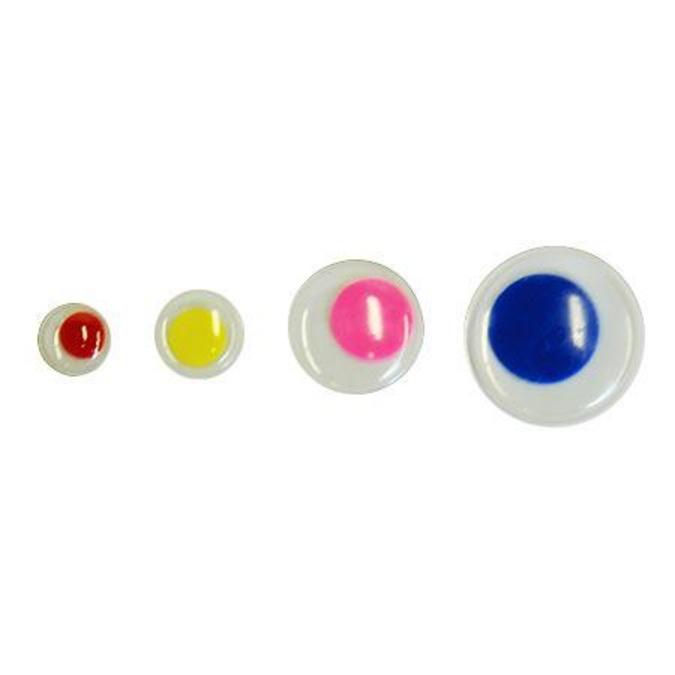 Yeux mobiles couleur Ø 8 à 20 mm 75 pcs