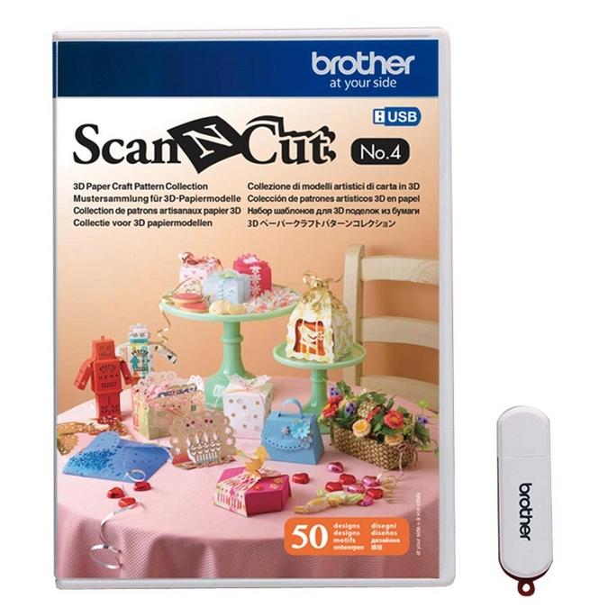 Motifs pour réalisations papier en 3D N° 4 ScanNcut