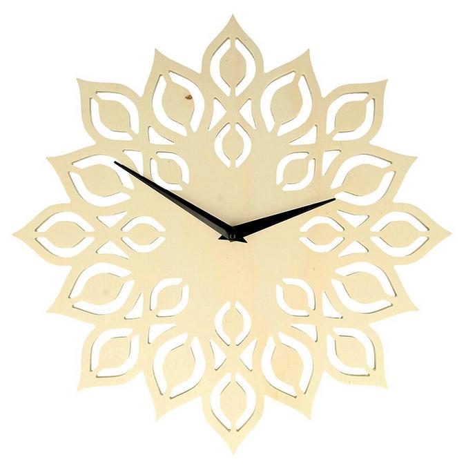 Support pour horloge Fleur en bois Ø 30 cm