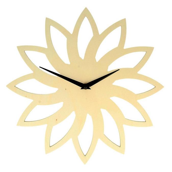 Support pour horloge Soleil en bois Ø 30 cm