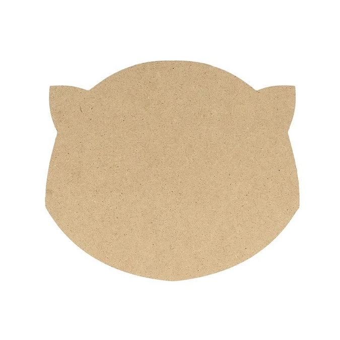 Silhouette en MDF Tête de chat 15 cm