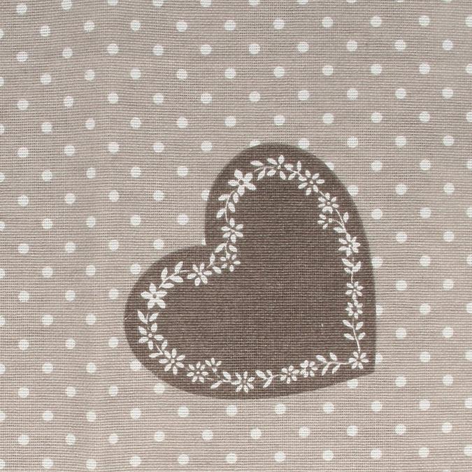 Coupon de coton Cœurs gris 30 x 90 cm