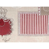 Coupon de coton Royal rouge 30 x 90 cm