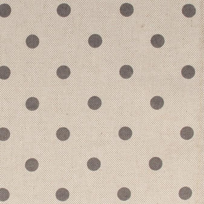Coupon de coton Pois gris 30 x 90 cm