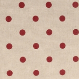 Coupon de coton Pois rouges 30 x 90 cm