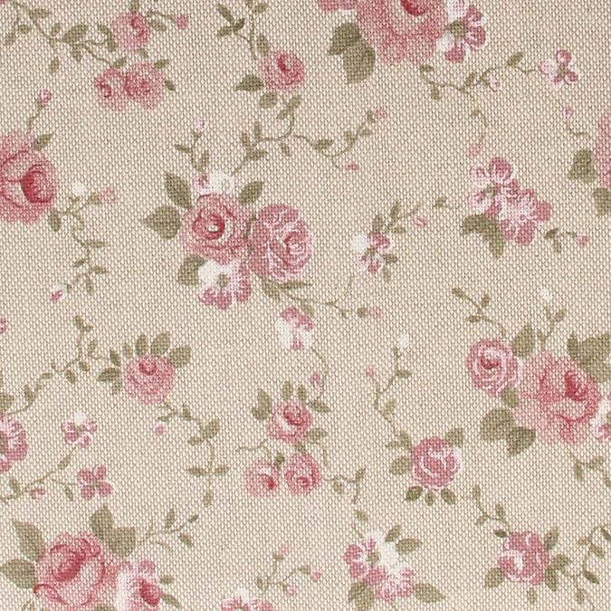 Coupon de coton Fleurs roses 30 x 90 cm