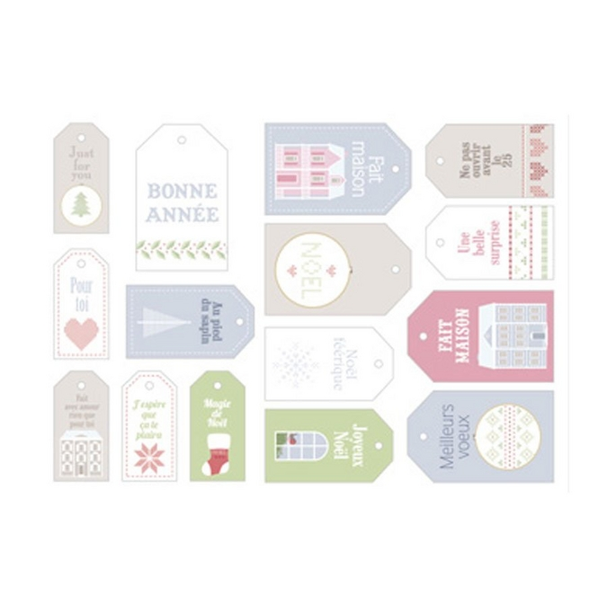 Étiquette Home Sweet Home 15 pcs