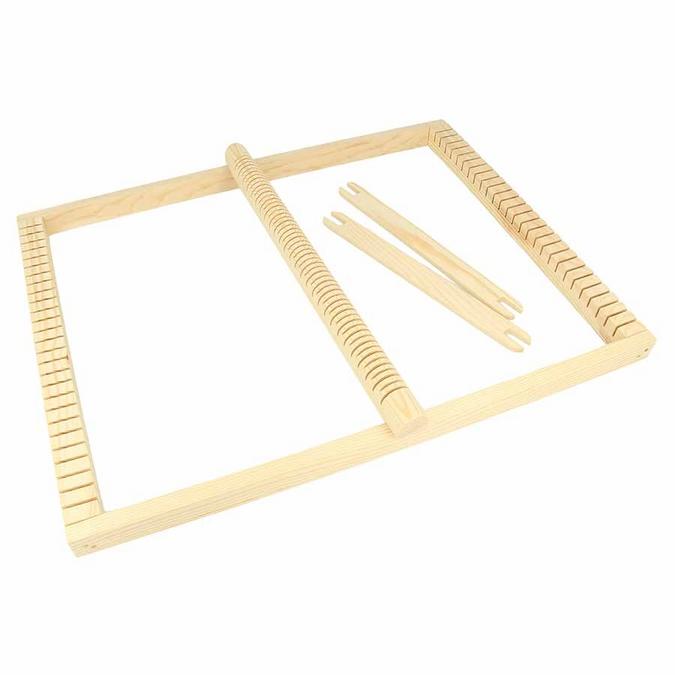 Métier à tisser rectangulaire 30 x 39 x 2 cm + corde et navettes