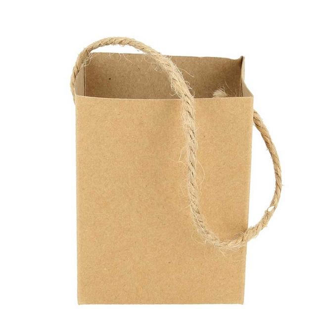 Pot forme Sac en papier mâché + mousse polystyrène 15 x 6.5 x 6 cm