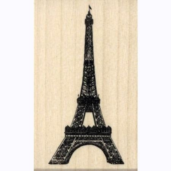 Tampon bois Tour Eiffel 6.5 x 3.4 cm