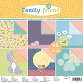 Papier Family Friends Chats 30 x 30 cm 170 g/m² Set 6 feuilles