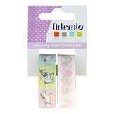 Masking Tape Secret Rainbow et Licorne 2 pcs