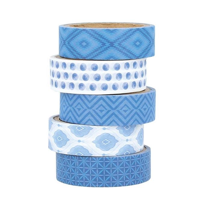 Masking Tape Blue Ethnic 2 pcs