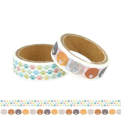 Masking tape Family Friends Chats 2 pcs