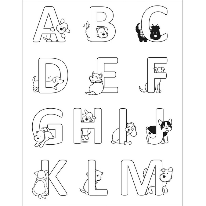 Tampon Clear Alphabet Family Friends Chiens