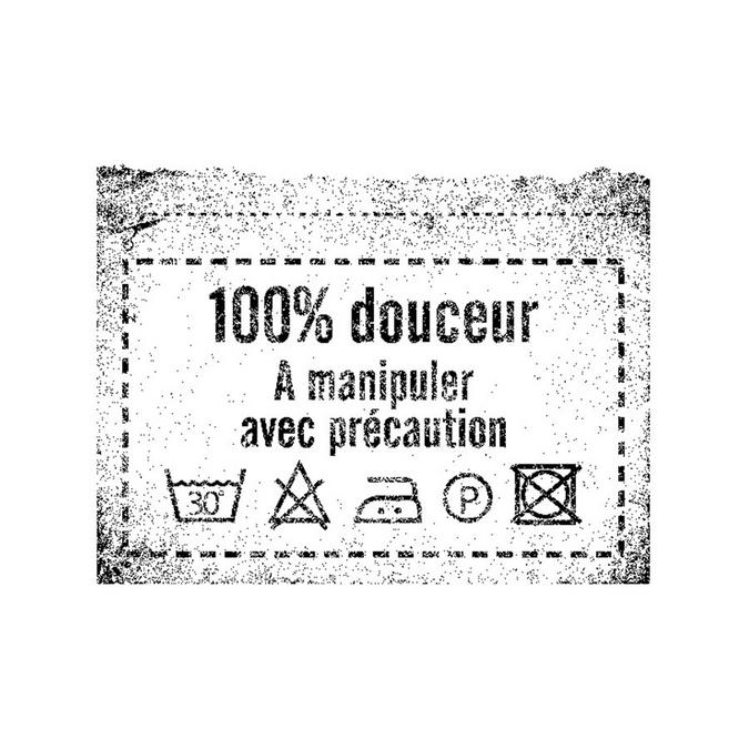 Tampon bois 100% Douceur 4,6 x 3,4 cm