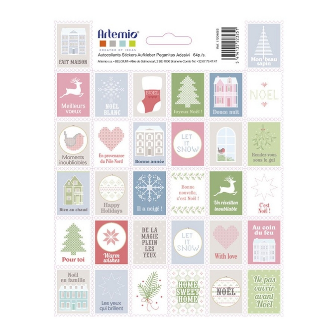 Autocollant Timbres Howe Sweet Home