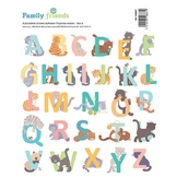 Autocollant Alphabet Family Friends Chats