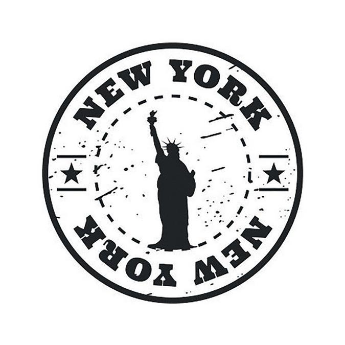 Tampon bois Woodies New-York Statue de la Liberté 3 cm