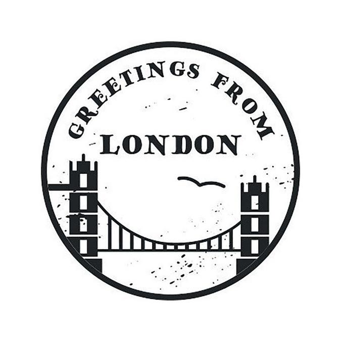 Tampon bois Woodies London Towerbridge 3 cm