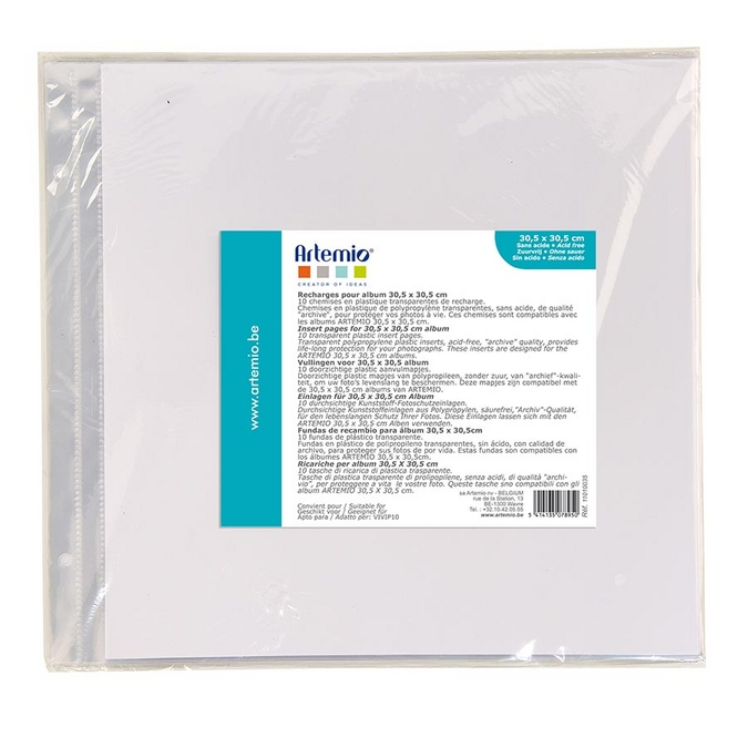 Pochette pour album 30 x 30 cm 10 pcs