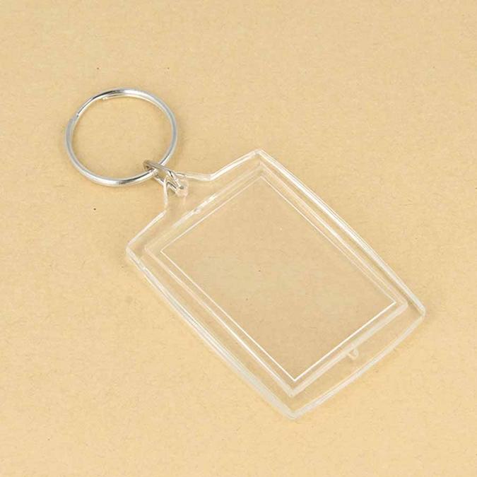 Porte-clés Photo rectangle 3 x 4,5 cm 4 pcs