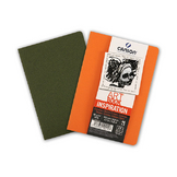 Carnet dessin A6 Art Book Inspiration 96 g/m² Lot de 2 Océan / Orange