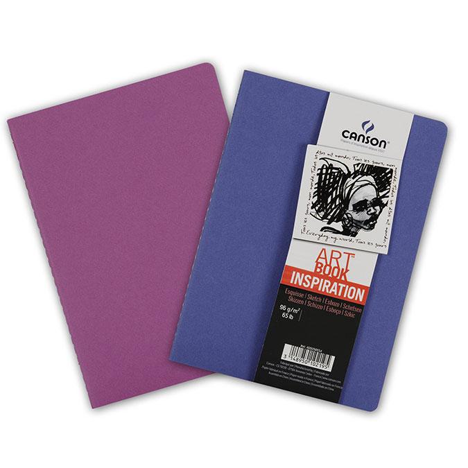 Carnet dessin A4 Art Book Inspiration 96 g/m² Lot de 2 Outremer / Violet