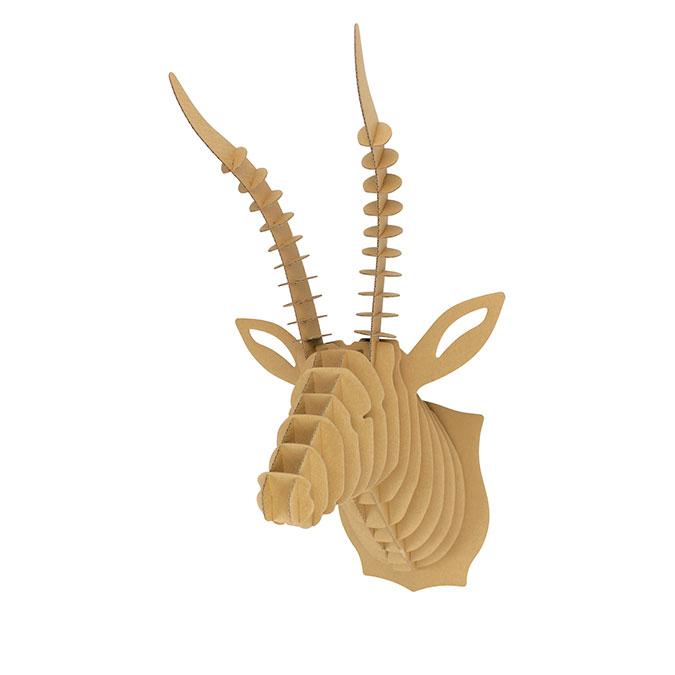 Trophée Antilope carton à assembler 27 x 52 x 30 cm