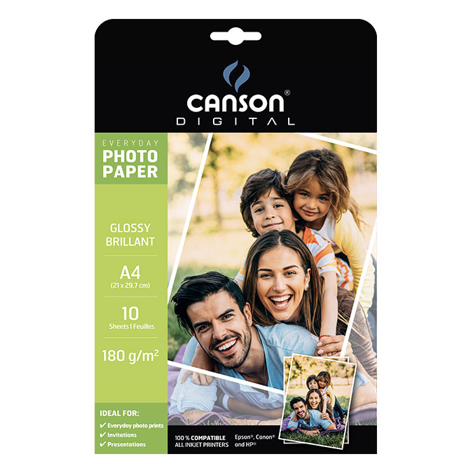 Papier photo brillant Everyday A4 180 g/m² 10 feuilles