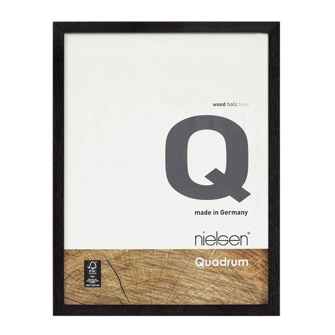 Cadre en bois Quadrum Noir jais