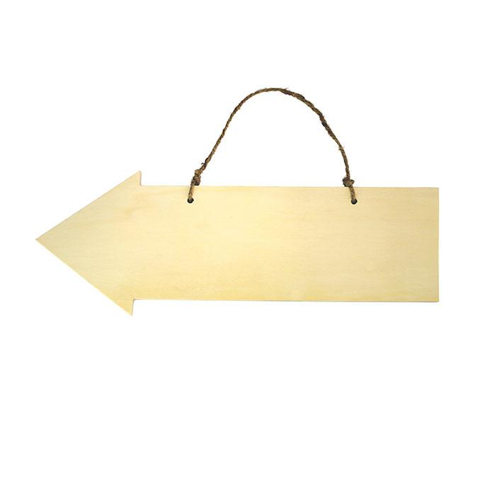 Flèche en bois 40 cm x 14,5 cm