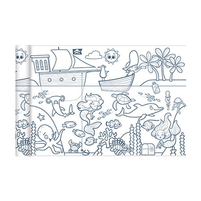 Coloriage en rouleau Pirates et Sirènes 35 cm x 5 m